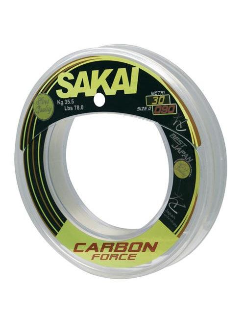 Il Carbon Force Sakai è un filo 100% fluorocarbon distribuito da Olympus e utilizzato da Nicola Riolo per le sue battute di pesca. Distribuito in bobine da 30 mt è un filo made in Japan che assicura ottime prestazioni, con carichi di rottura testati elettronicamente.