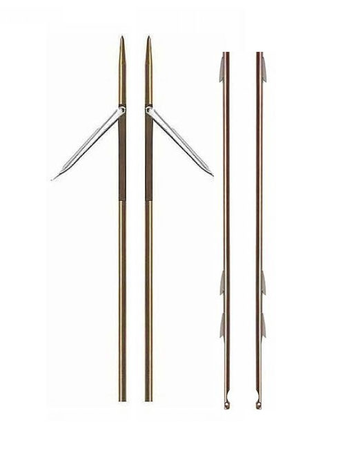 Coppia aste inox 7 mm con tre pinnette in offerta. Le aste sono lunghe 140 cm.