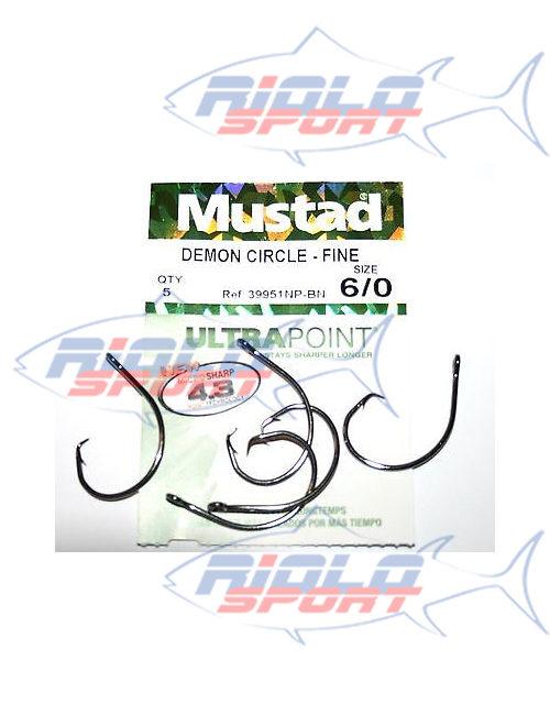 Amo mustad Circle serie 39951np/bn